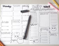 time journal printable planner journaling agenda A4 page notebook where you can write how you use your time print it and colour it with crayons as you like or you can leave it blank and use colored markers  to organize your kitchen step by step your time a gift for woman teen coworker sister friend mother agenda organizer notebook bullet planner plan journal diary schedule scrapbooking  other pages to print https://www.etsy.com/it/listing/476433133/bullet-journal...