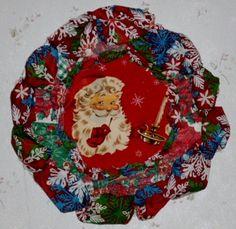 Santa's Picturesque Christmas Wreath 24 inches around # $ 25.00