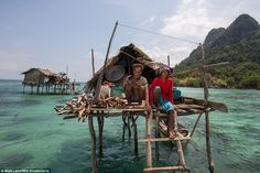 Insalmali and Muslina are an elderly Bajau Laut couple that live off Bodgaya Island. They ...
