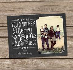 chalkboard christmas card photo ideas - Google Search