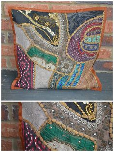 Handmade Large Vintage Pillow Sham from India #7