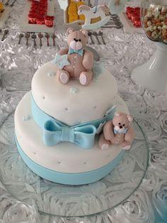 Blue bear cake