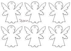 Free printable Angel-shaped tags Lots more shapes on the blog