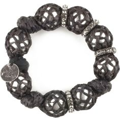 Pearls And Raffia Bracelet ($565) ❤ liked on Polyvore