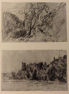 Two Pages from the Sketchbook of John Constable - July Pencil, pen, ink and watercolour. Travel Sketchbook, Art Sketchbook, Drawing Sketches, Art Drawings, Landscape Drawings, Landscapes, Drawing Studies, Zentangle Drawings, Sketch Pad