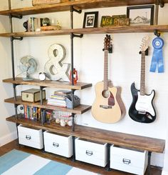 Rolling crate tutorial. I like the idea if hanging guitar on the wall.