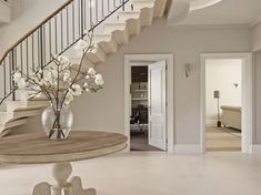 Sims Hilditch Interior Design Family Home 1 Stairs Colours, Hallway Colours, Country Interior Design, Hall Interior, Bungalow Hallway Ideas, Hallway Colour Schemes, Country Hallway, Hall Colour, Georgian Interiors