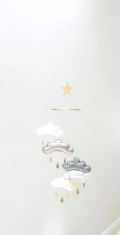 Star Nursery cloud mobile MIDNIGHT by The Butter