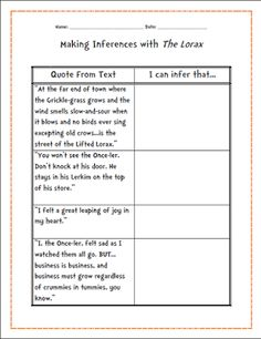 Worksheets Student Worksheet To Accompany The Lorax pinterest the worlds catalog of ideas they used both story maps to compare and contrast text movie using a venn diagram note watching answering dis