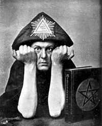 "Aleister Crowley, born Edward Alexander Crowley and also known as both Frater Perdurabo and The Great Beast, was an influential English occultist, mystic, ceremonial magician, poet and mountaineer, who was responsible for founding the religious philosophy of Thelema.  L Ron Hubbard got some of his ""ideas"" for Scientology but brain storming with a con mad trained by Aleister Crowley. Go figure."