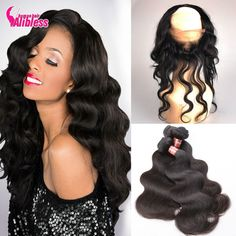 Sale!! Pre Plucked 360 Lace Frontal With Bundles Malaysian 8A Body Wave Human Hair With Frontal Closure,22x4x2 Full Lace Frontal * Detailed information can be found by clicking on the image