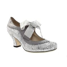 Metallic Hush Puppies Glitter Ribbon Tie Court Shoes - Mid heel shoes - Shoes & boots - Women -