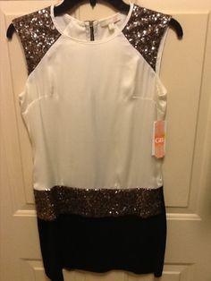Juniors GB Black Ivory Sequindress Size 3 Formal Wear | eBay