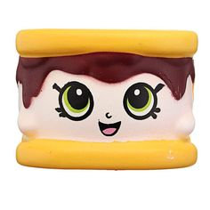 WFFO Adorable Fashion Spongy Banana Bead Stress Ball Toy Squeezable Squishies Stress Relief Toy Purple