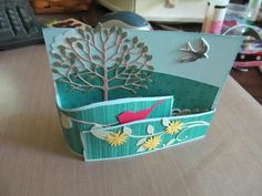 Bendi-Fold Card by beechwood - Cards and Paper Crafts at Splitcoaststampers Tri Fold Cards, Fancy Fold Cards, Folded Cards, Homemade Greeting Cards, Greeting Cards Handmade, Card Tutorials, Card Tags, Creative Cards, Scrapbooking Ideas