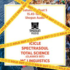 Saturday Boat 5 - Shogun Audio *Sold Out*