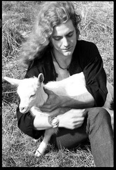 Robert Plant: such a hottie, bad ass holding a baby lamb! Even better …