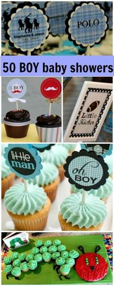 50 BOY baby shower ideas! i like the idea of the sayings on the sticks by laurie