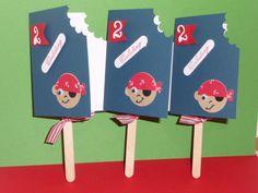 Pirat ,Einladung, Eiskarte,Kindergeburtstag Von Schönes Aus Stempel Und  Papier Auf DaWanda.