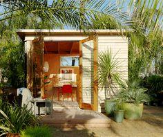 Flexa Studio prefabricated room by designer Casper Mork-Ulnes. Nice outdoor yard getaway. Makes a great office