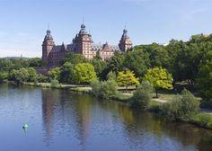 De 25 mooiste kastelen in Duitsland - Slot Johannisburg in Aschaffenburg ten oosten van Frankfurt.