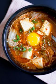 Korean Kimchi Tofu Soup