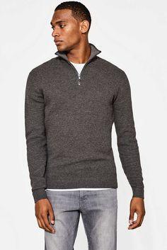 Esprit - Struktur-Pullover aus Baumwolle/Kaschmir