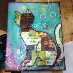 Mixed media painting I did under the tutelage of Christy Riopel.                                                                                                                                                                                 More