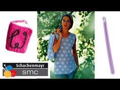 Schachenmayr flower mesh top crochet pattern part 6 - © Woolpedia