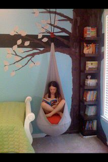 Reading Nook. What a great idea for a kids' room. Safe Place.