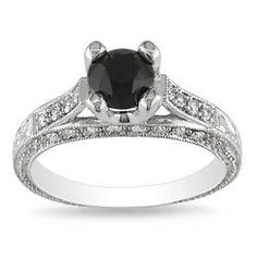 @Overstock - Black and white diamond engagement ring14-karat white gold jewelryClick here for ring sizing guidehttp://www.overstock.com/Jewelry-Watches/14k-White-Gold-1-1-5ct-TDW-Black-and-White-Diamond-Engagement-Ring-G-H-I1/6050759/product.html?CID=214117 $599.99