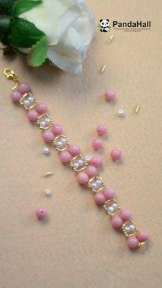 PandaHall Video Tutorial de pulsera – Diy Jewelry To Sell Handmade Beaded Jewelry, Beaded Jewelry Patterns, Bracelet Patterns, Handmade Wire, Bracelet Crafts, Jewelry Crafts, Jewelry Ideas, Jewelry Accessories, Diy Bracelets To Sell