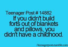 Seriously...I still do this when friends come over sometimes!!!