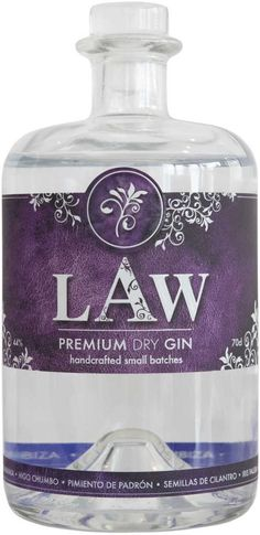 Gin von LAW in der 0,7 l Flasche mit 44% Vol. Alc.