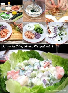 Cucumber Celery Shrimp Chopped Salad (Dukan Diet PV Cruise Recipe) - Diet Plan 101