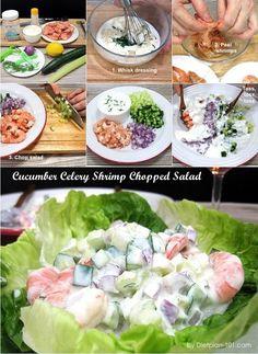 Cucumber Celery Shrimp Chopped Salad (Dukan Diet PV Cruise Recipe) - Diet Plan 101