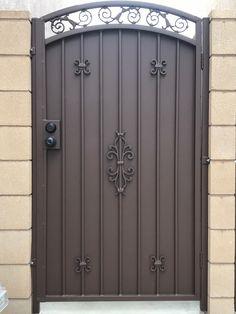 Wrought Iron Gate Designs, Wrought Iron Garden Gates, Metal Gates, Wrought Iron Doors, Metal Gate Door, Steel Gate Design, Main Gate Design, House Gate Design, Door Gate Design