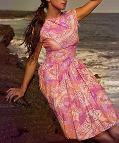 Another great find on #zulily! Pink & Orange Garden Isle Dress by Shabby Apple #zulilyfinds