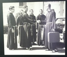 Kirby arriving at Monastery of Nary Immaculate, Yonkers NY, a Capuchin monastery