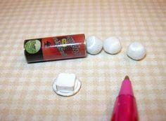 Miniature Metal Can of Tennis Balls (3 White) DOLLHOUSE Miniatures 1/12 Scale