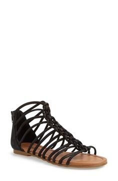Lucky Brand 'Casmett' Leather Caged Sandal (Women) available at #Nordstrom