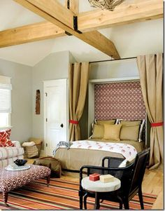 Love the idea of Murphy beds to maximize space, but it would be so sad to have to fold up such a nicely made bed