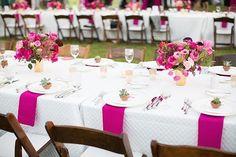 Rustikale Hochzeit Tischdekoration Ideen 2014 2015 Hot Pink Tischtuch Blumen Rustikale Hochzeit Tischdekoration Ideen 2014 2015