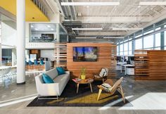 banking building Cuningham Group Architecture designed their new offices in the spring of this year, located in Phoenix, Arizona. Cuningham Group leased and restored the historic Farmers amp; Stockmens Bank building and Workspace Design, Office Interior Design, Corporate Interiors, Office Interiors, Architecture Office, Architecture Design, Amazing Architecture, Fusion Design, Modular Lounges