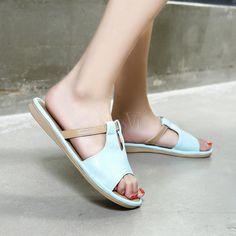 $23.99. Cross Strap Flip Flop Flat Heel Sandals