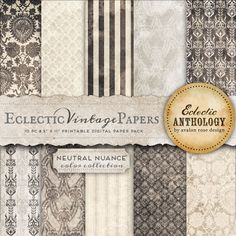 Neutral Nuance Printable Scrapbook Papers