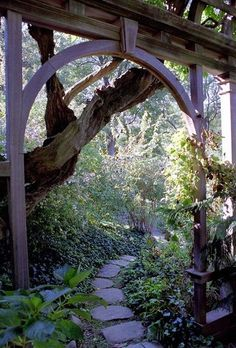 Love the shape of this arch, could incorporate it into a privacy screen perhaps? #garden #screen #PrivacyScreen
