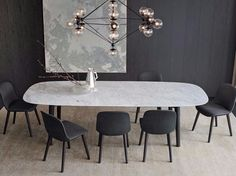 Rectangular marble table MAD DINING TABLE Mad Collection by Poliform design Marcel Wanders