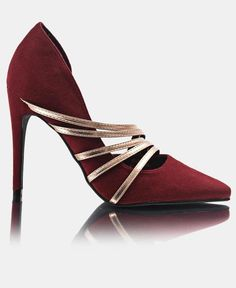 Dublin - Burgundy Killer Heels, Court Shoes, Dublin, Sunnies, Heeled Mules, Burgundy, Fashion, Moda, Sunglasses