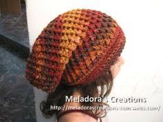 Crochet Hat – Meladora's Butterfly Stitch Slouch Hat Tutorial – Knitting patterns, knitting designs, knitting for beginners. Crochet Adult Hat, Bonnet Crochet, Crochet Beanie, Knitted Hats, Crochet Gratis, Diy Crochet, Crochet Geek, Crochet Dolls, Crochet Stitches